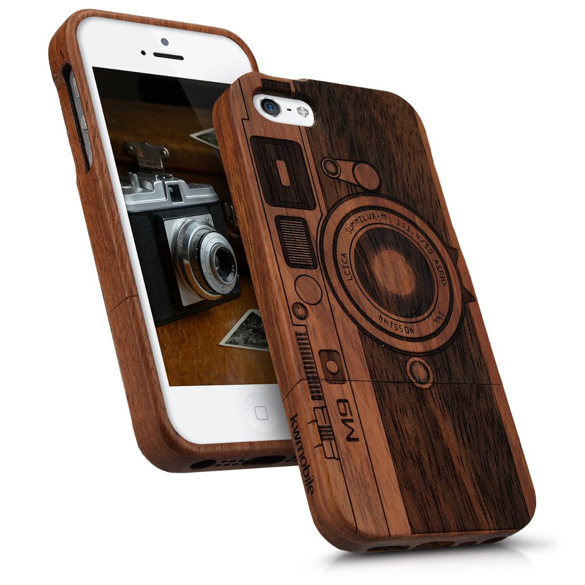 holz hard case f r apple iphone se 5 5s cover schutz h lle. Black Bedroom Furniture Sets. Home Design Ideas