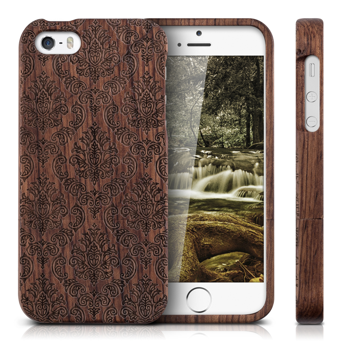 holz hard case f r apple iphone se 5 5s cover schutz h lle. Black Bedroom Furniture Sets. Home Design Ideas