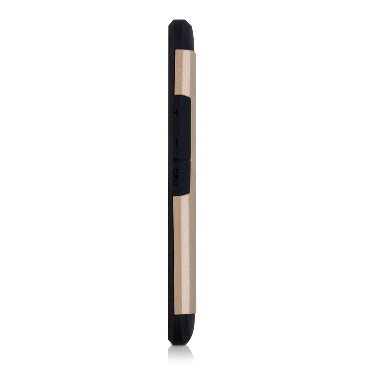 Schutz Hülle für HTC One M9 Gold Plain Case Cover Bumper Handy Silikon Hybrid