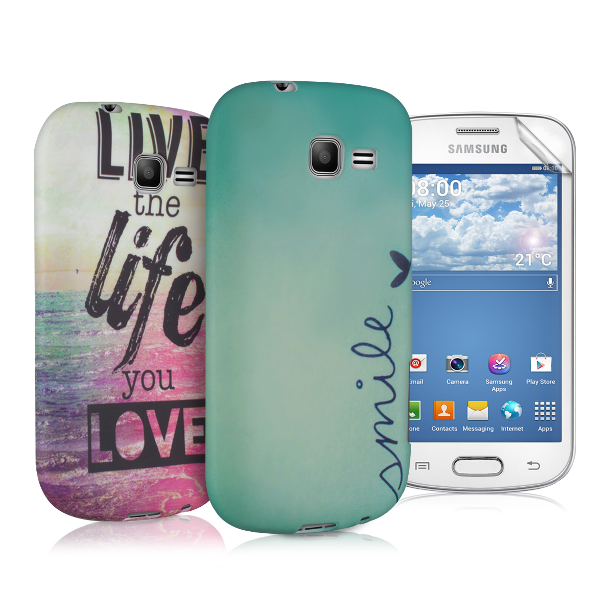 Kwmobile 2in1 set tpu silicone case for samsung galaxy - Telephone portable samsung galaxy trend lite ...