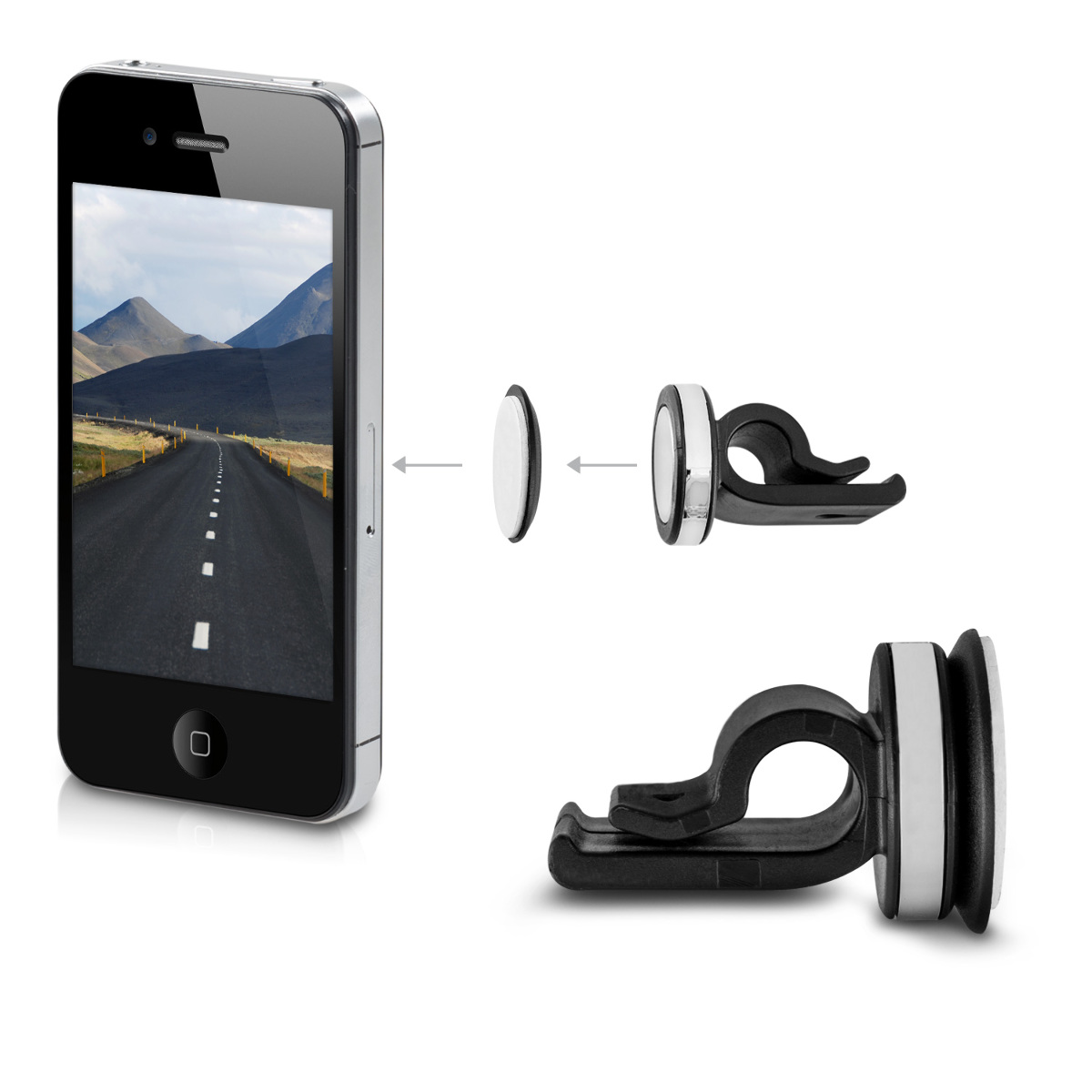 kwmobile support pour voiture aimant pour apple iphone 4 berlin. Black Bedroom Furniture Sets. Home Design Ideas