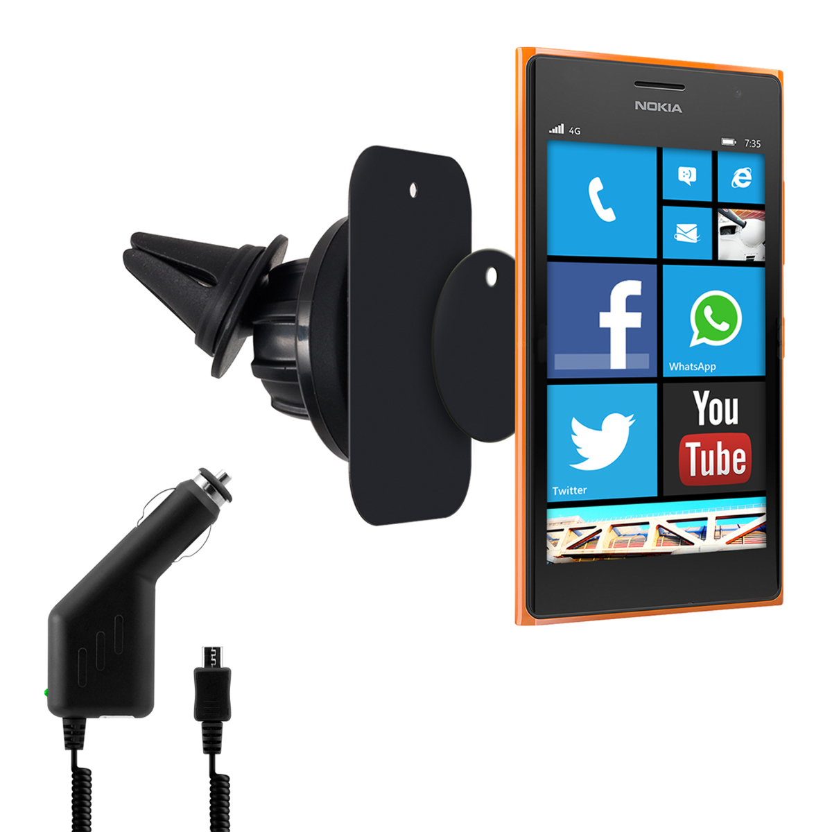 kwmobile support pour voiture aimant pour nokia lumia 730 berlin. Black Bedroom Furniture Sets. Home Design Ideas