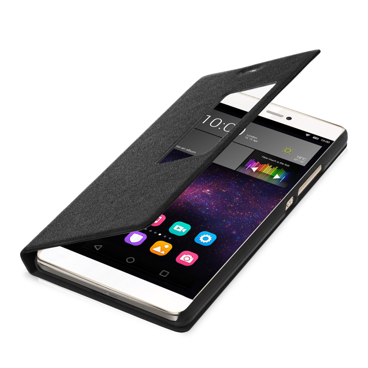 kwmobile FLIP COVER FOR HUAWEI P8 WINDOW CASE SLIM BACK SHELL HARD MOBILE PHONE