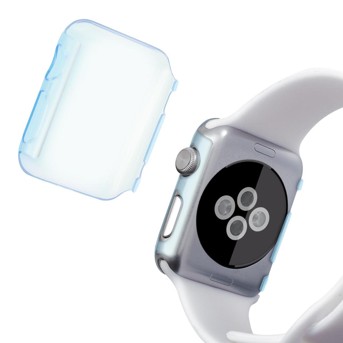 crystal case f r apple watch 42mm series 1 2 3 blau hardcase smartwatch uhr ebay. Black Bedroom Furniture Sets. Home Design Ideas