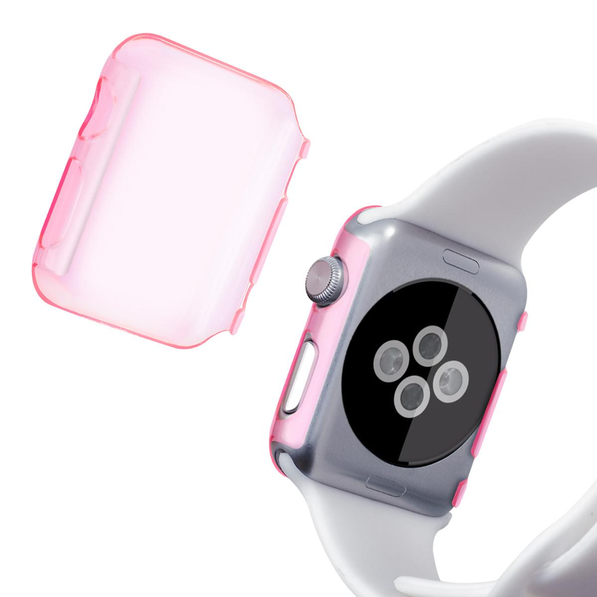 kwmobile crystal case f r apple watch 38mm series 1 pink hardcase smartwatch ebay. Black Bedroom Furniture Sets. Home Design Ideas