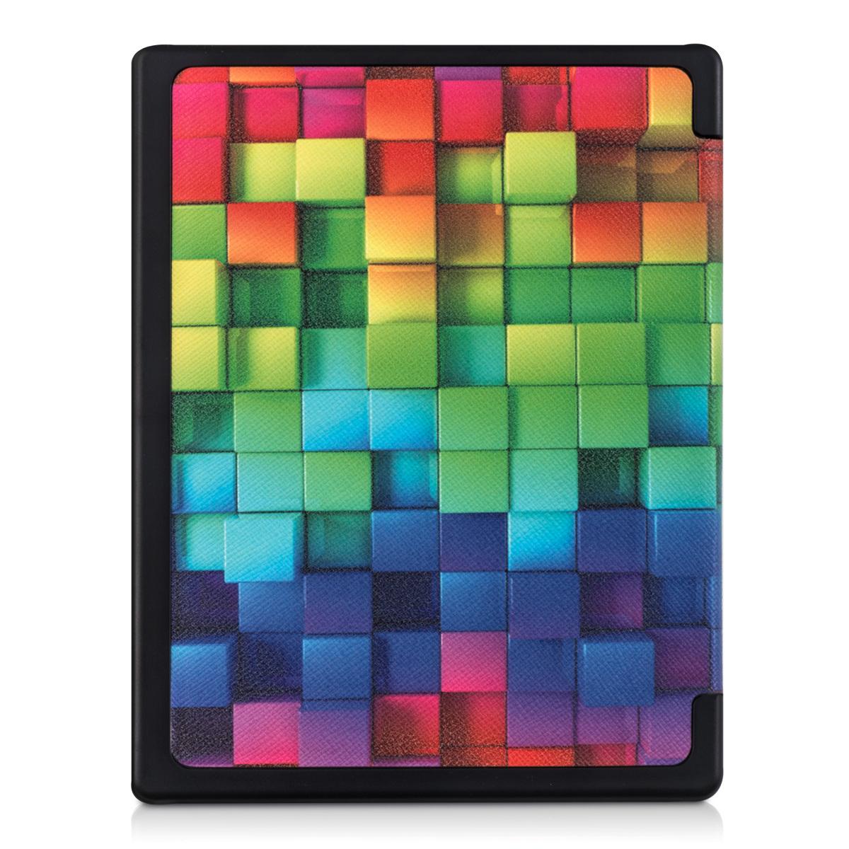 kwmobile flip tasche f r kobo aura edition 1 regenbogen w rfel kunstleder h lle ebay. Black Bedroom Furniture Sets. Home Design Ideas