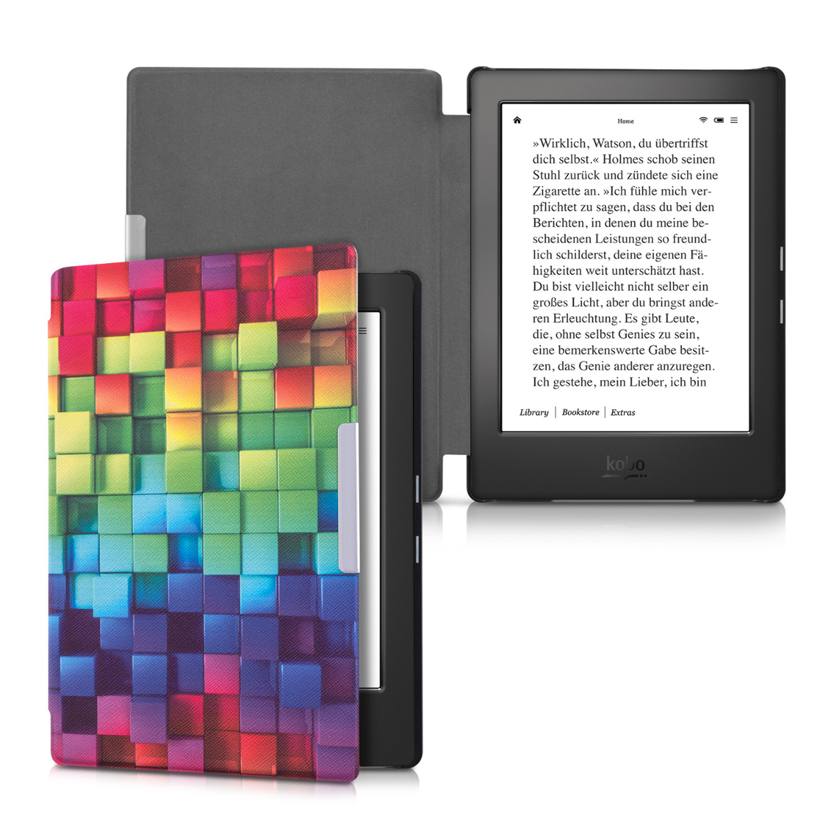 Kwmobile synthetic leather flip cover for kobo aura h2o for Housse kobo aura h2o edition 2