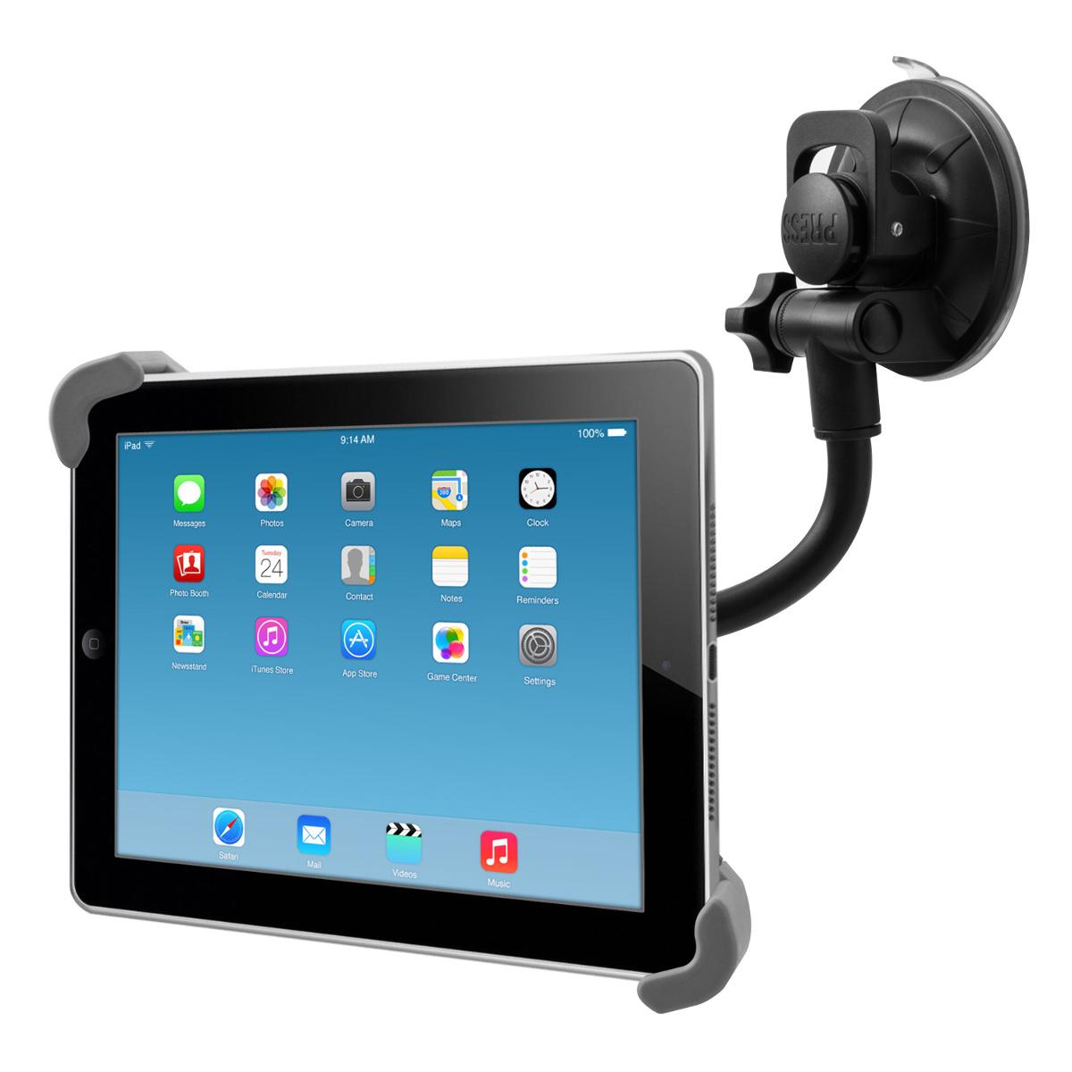 flexbile auto halterung f r apple ipad 2 3 4 kfz halter pkw front scheibe ebay. Black Bedroom Furniture Sets. Home Design Ideas