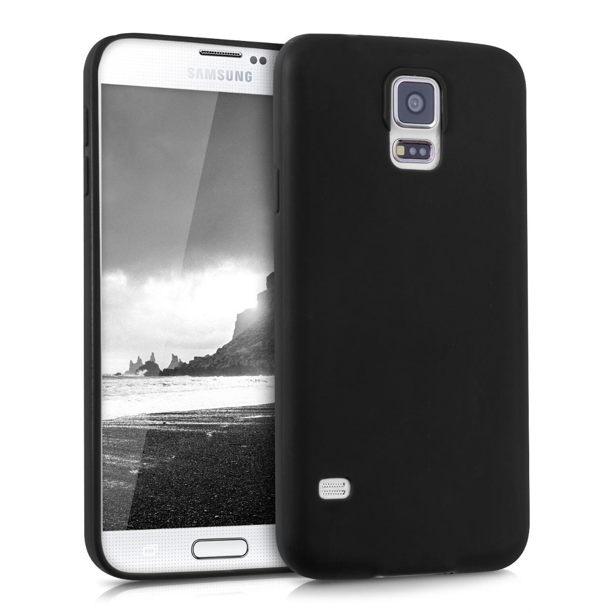 Kvalitní silikonové TPU pouzdro pro Samsung S5 | S5 Neo - černé matné