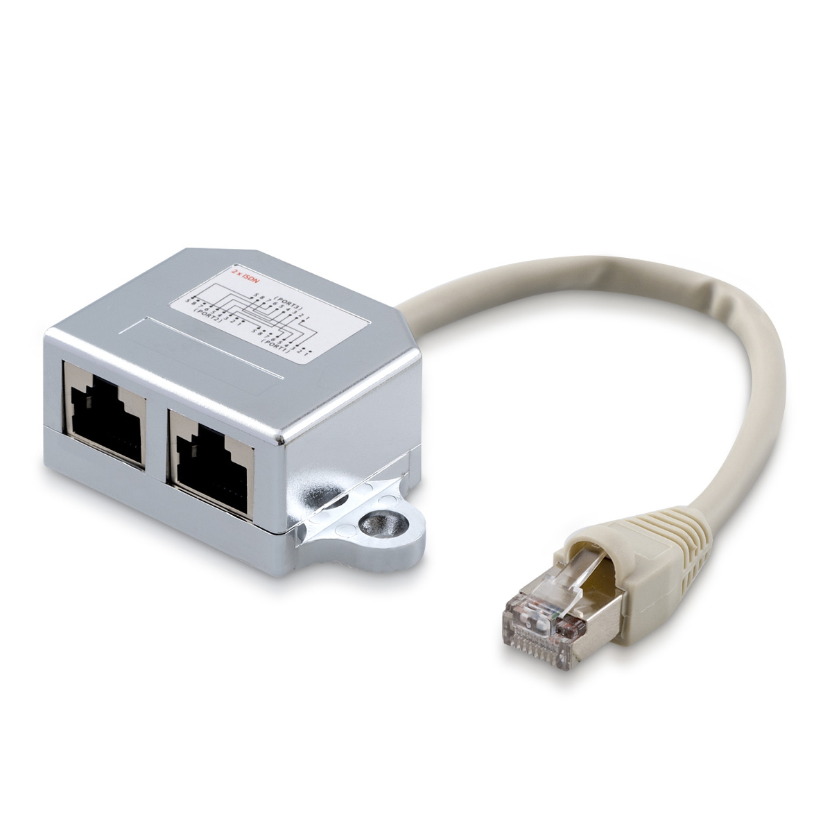 kwmobile network cable to x rj isdn network cable adapter kwmobile network cable to 2x rj45 isdn network cable adapter splitter