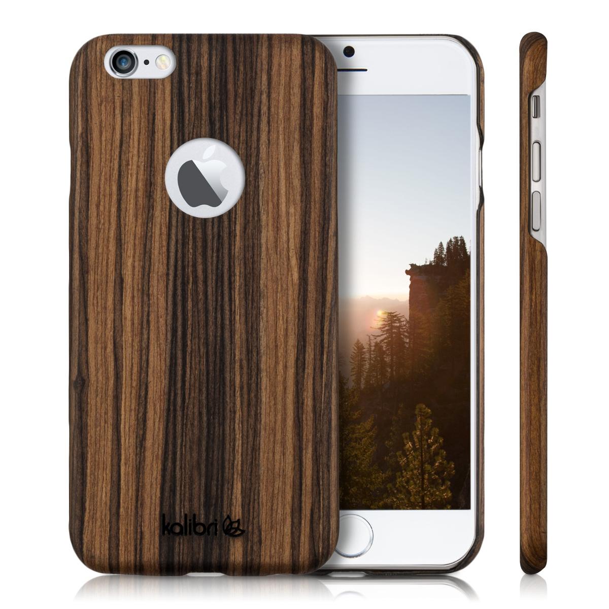 kalibri holz case f r apple iphone 6 6s h lle smartphone. Black Bedroom Furniture Sets. Home Design Ideas