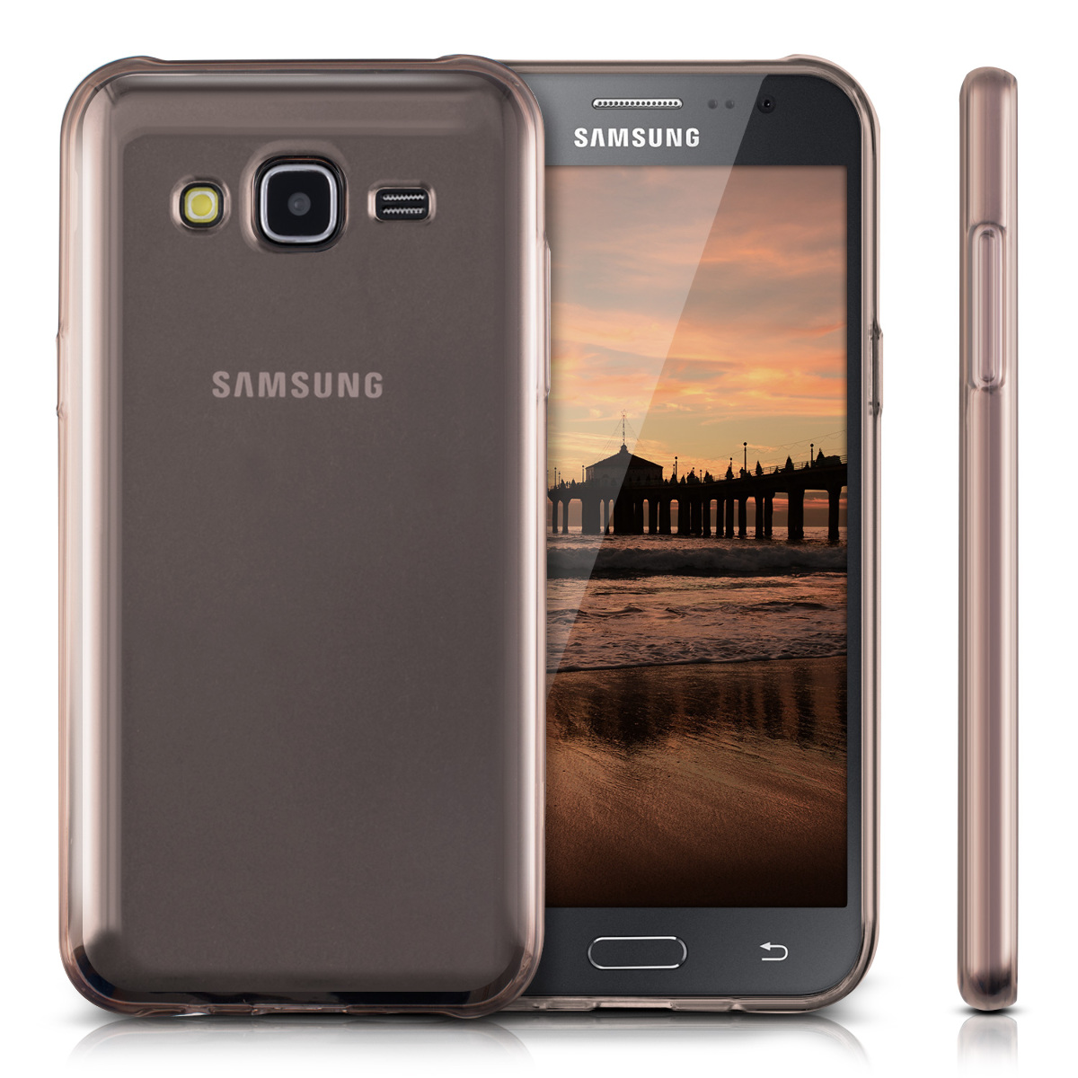 kwmobile tpu silicone crystal case for samsung galaxy j5 2015 soft cover ebay. Black Bedroom Furniture Sets. Home Design Ideas