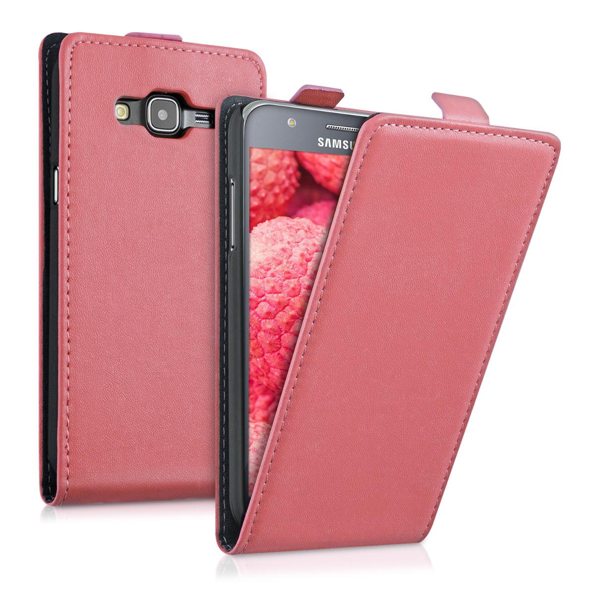 Kožené pouzdro pro Samsung J5 (2015) - Dusty růžové