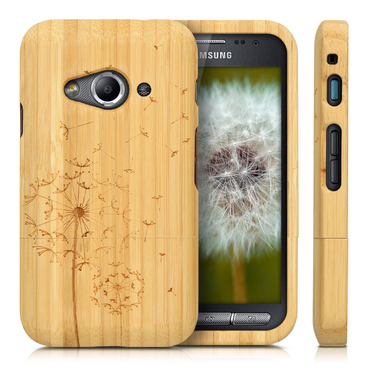 Kwmobile coque en bois pour samsung galaxy xcover 3 bois for Housse xcover 4