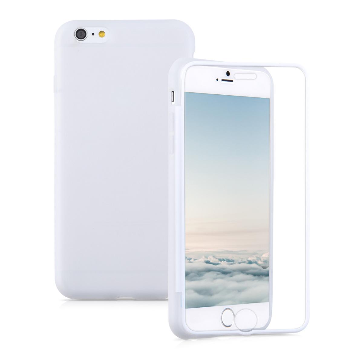 Kvalitní silikonové TPU pouzdro pro Apple iPhone 6 Plus / 6S - Bílý