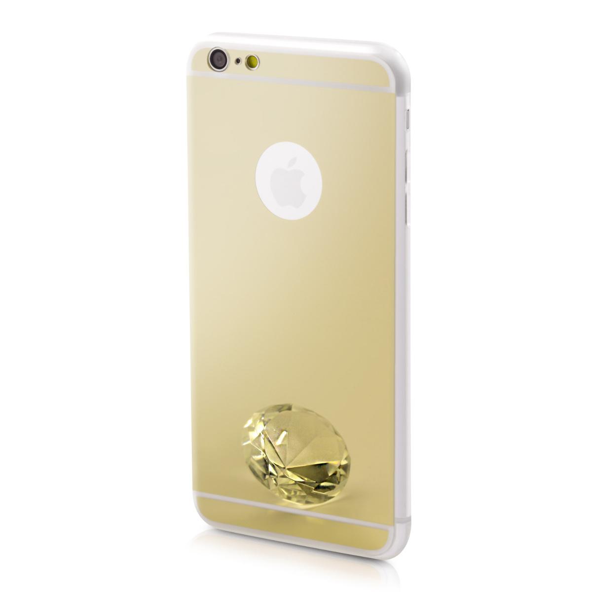 Kvalitní silikonové TPU pouzdro pro Apple iPhone 6 Plus / 6S - Gold Reflective