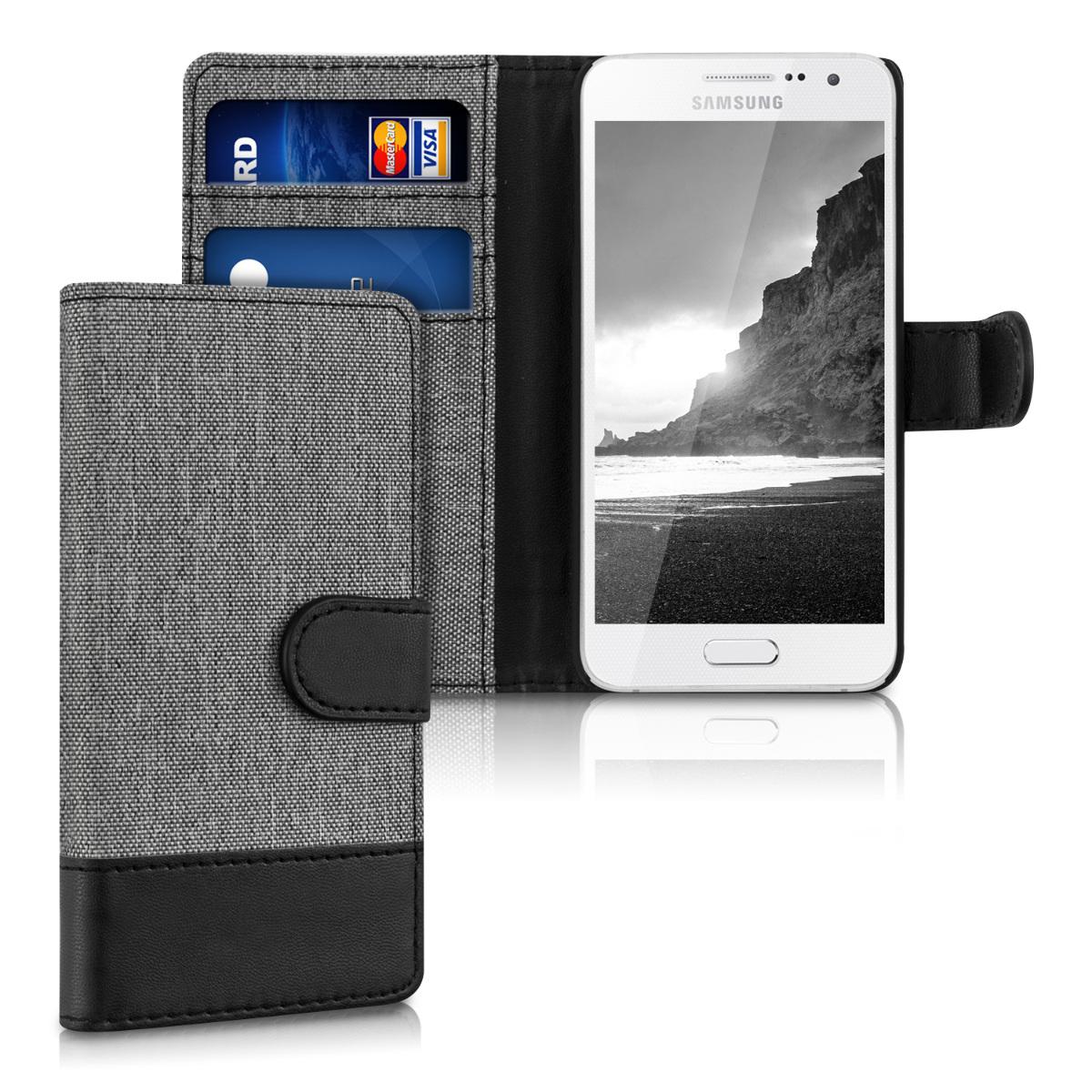 Fabricpouzdro pro Samsung A3 (2015) - šedé / černé
