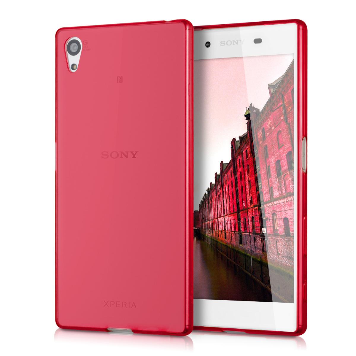 Kvalitní silikonové TPU pouzdro | obal pro Sony Xperia Z5 - červené