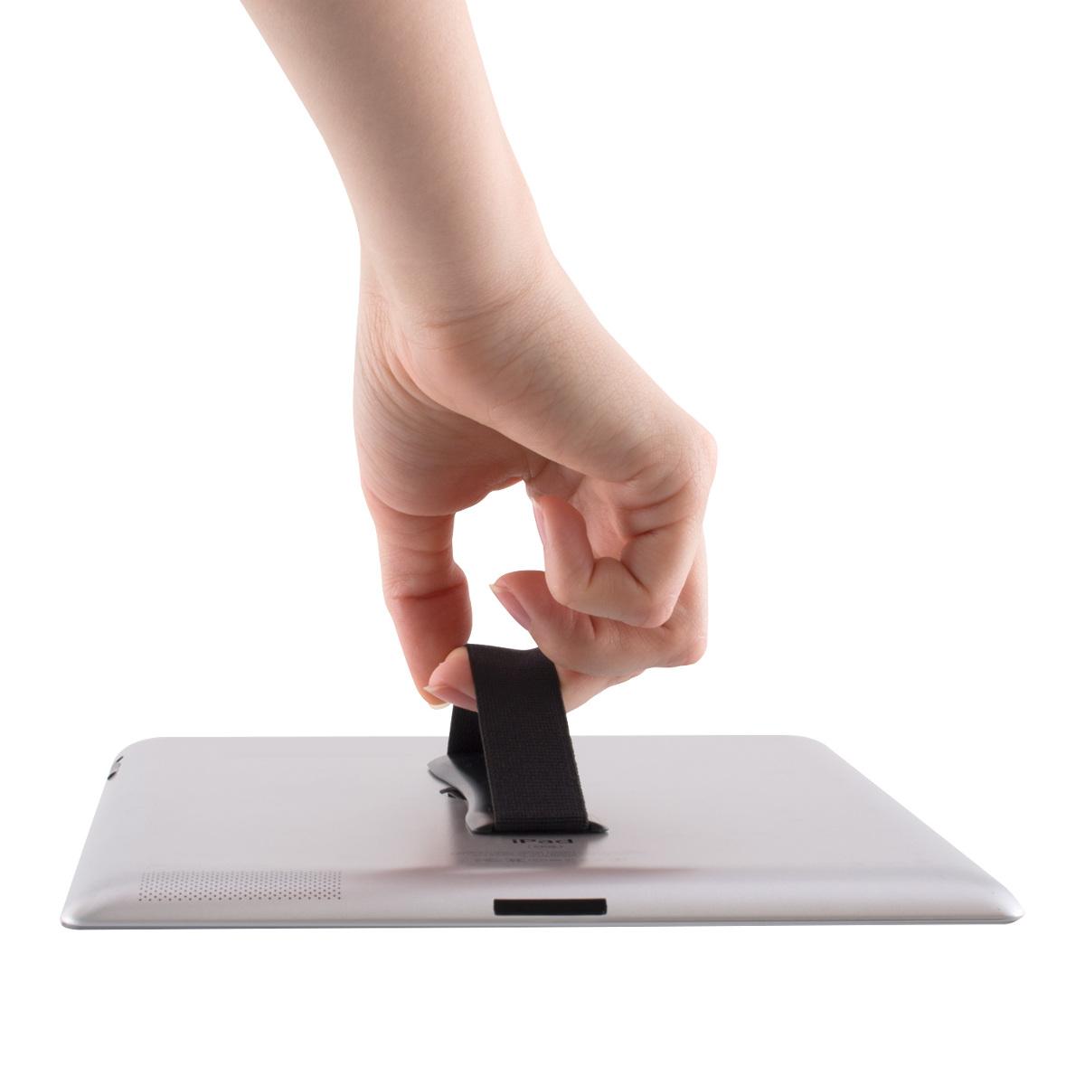 Support-autoadhesif-tablette-Accessoire-universel-main-tablettes-Noir miniature 4