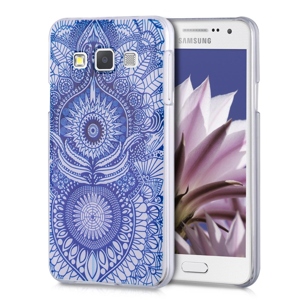 Kvalitní plastové pouzdro pro Samsung A3 (2015) - Oriental modré / Bílá