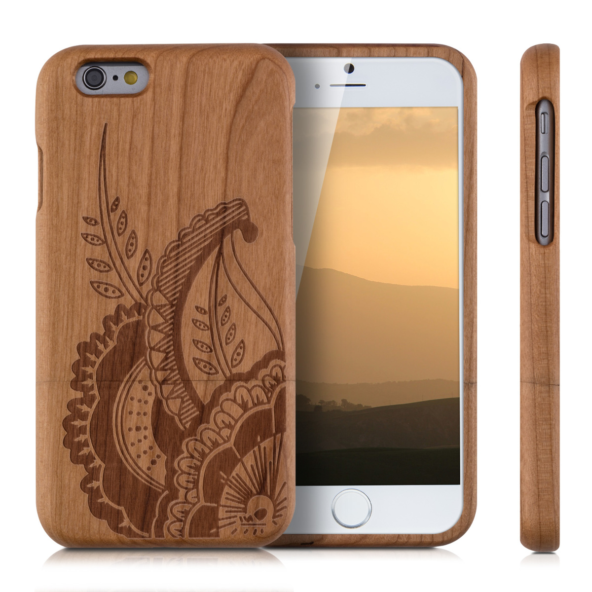 wood iphone cases kwmobile wood cover for apple iphone 6 6s back 2429