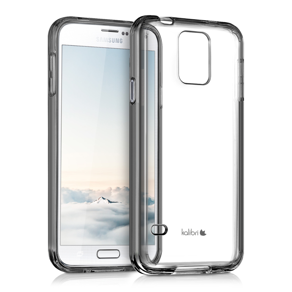 Kvalitní silikonové TPU pouzdro pro Samsung S5 | S5 Neo - černé / transparentní