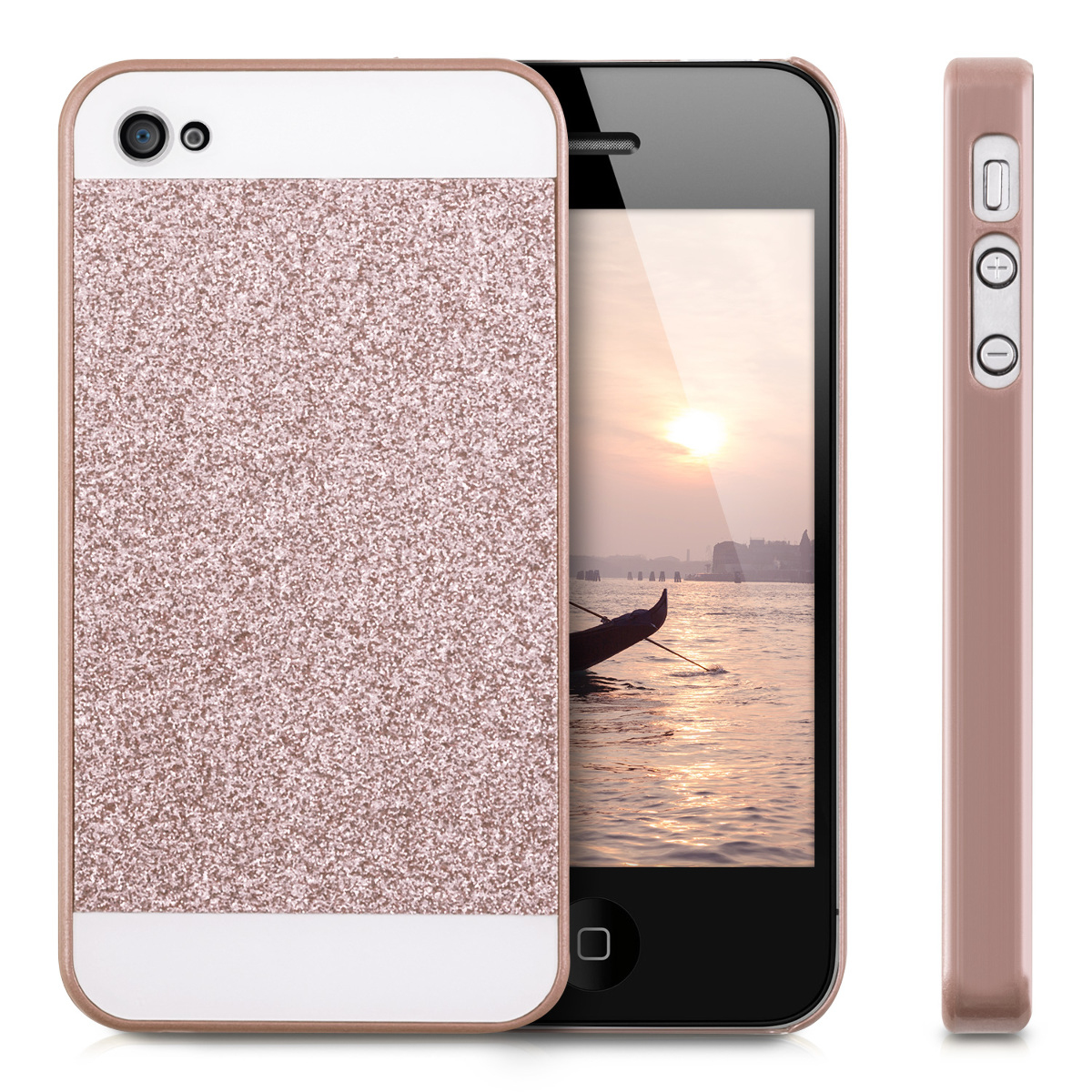 rose gold iphone case cover glitter rectangle for apple iphone 4 4s 16038