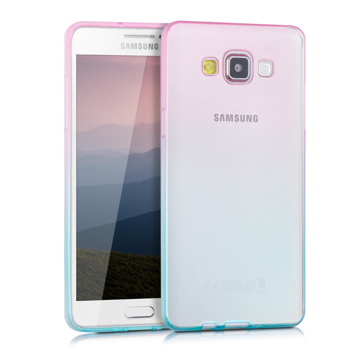Kvalitní silikonové TPU pouzdro pro Samsung A5 (2015) - Bicolor tmavě růžová / modré matný