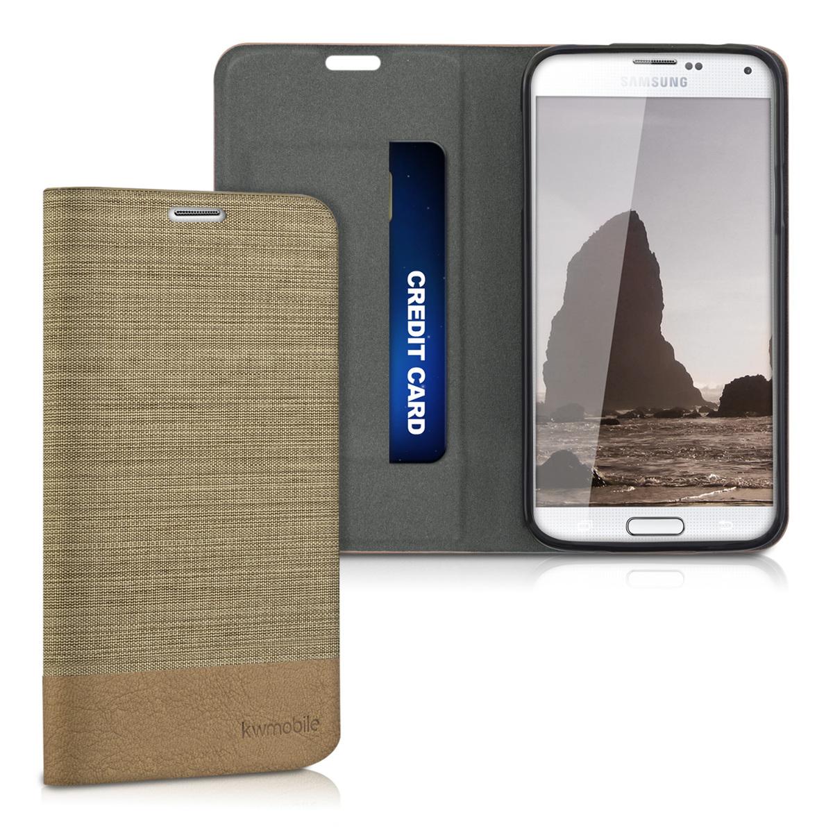 Fabricpouzdro pro Samsung S5 | S5 Neo - Sand / Brown