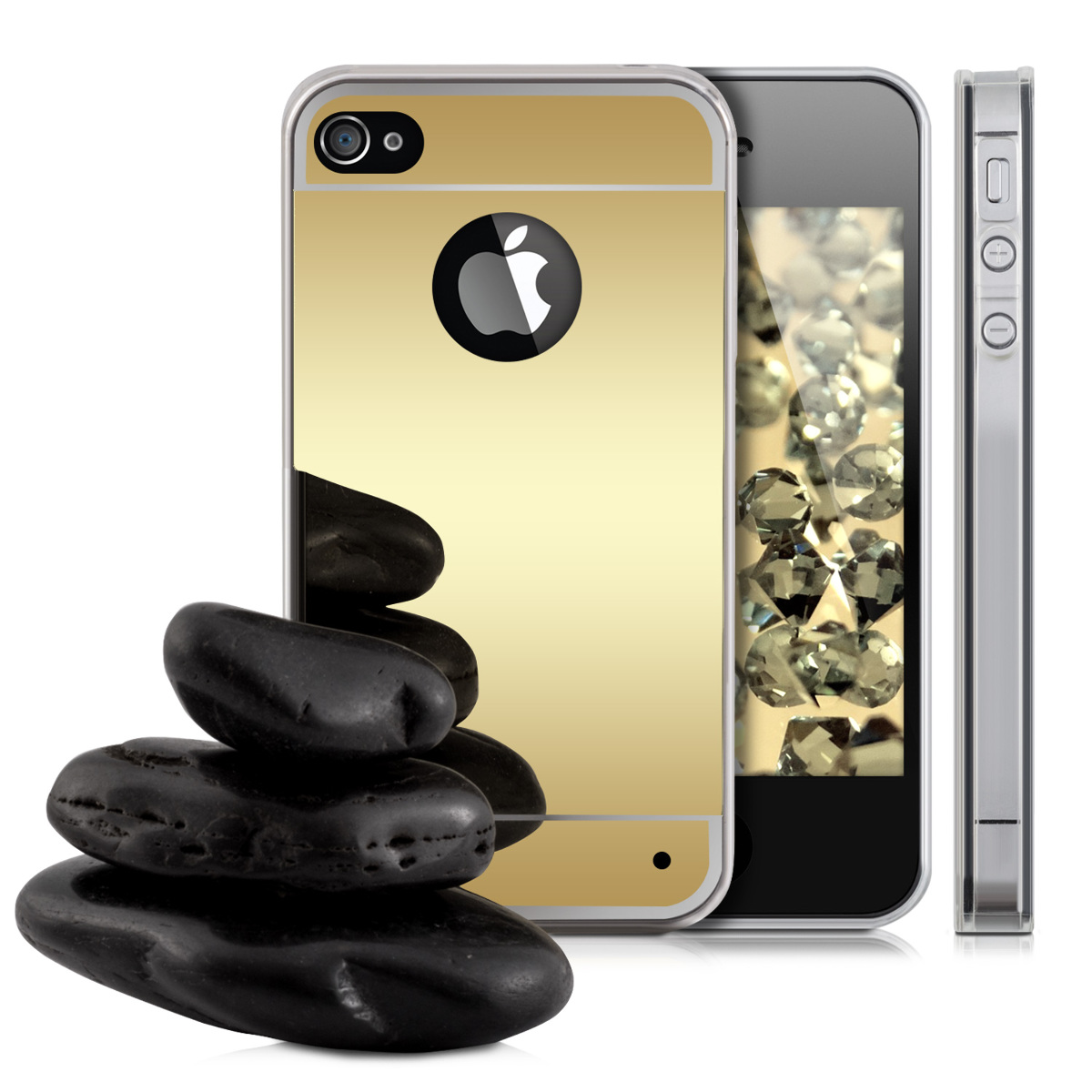 mirror iphone case kwmobile protective mirror for apple iphone 4 4s 3118