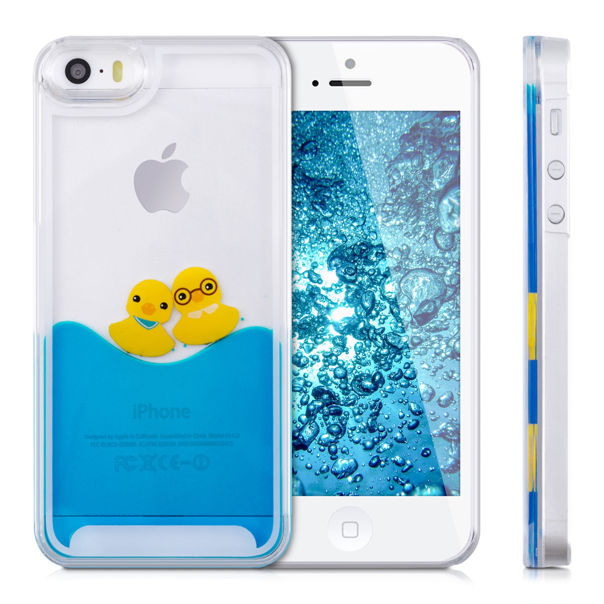 kwmobile hard case cover water for apple iphone se 5 5s. Black Bedroom Furniture Sets. Home Design Ideas