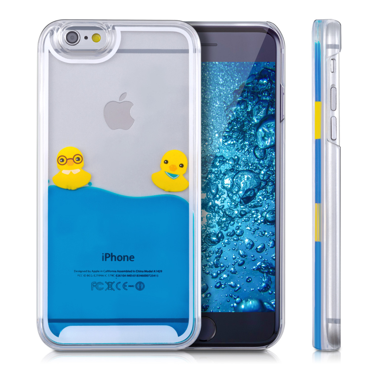 kwmobile hard case cover water for apple iphone 6 6s mobile phone liquid ebay. Black Bedroom Furniture Sets. Home Design Ideas