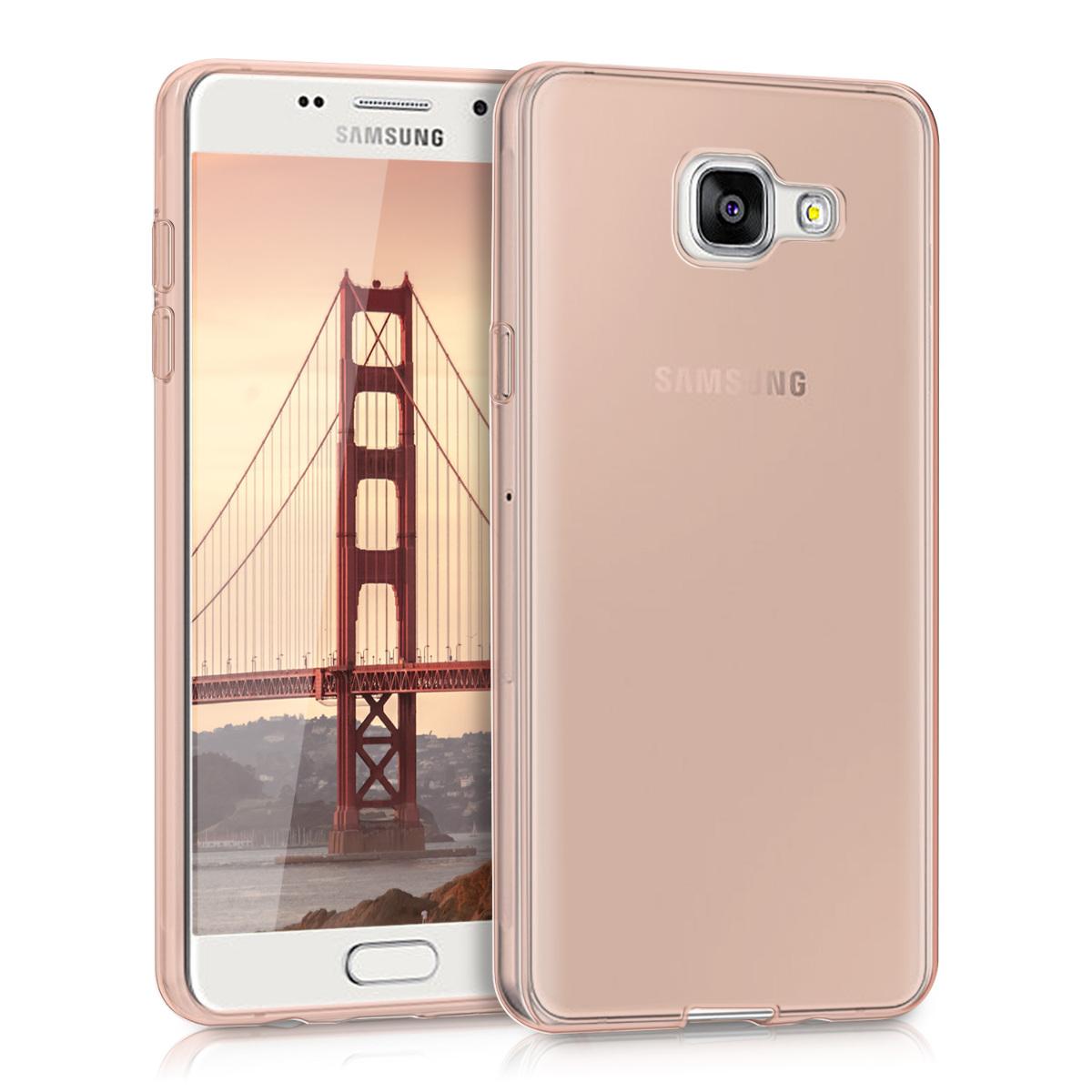 Kvalitní silikonové TPU pouzdro pro Samsung A5 (2016) - starorůžové rosegold