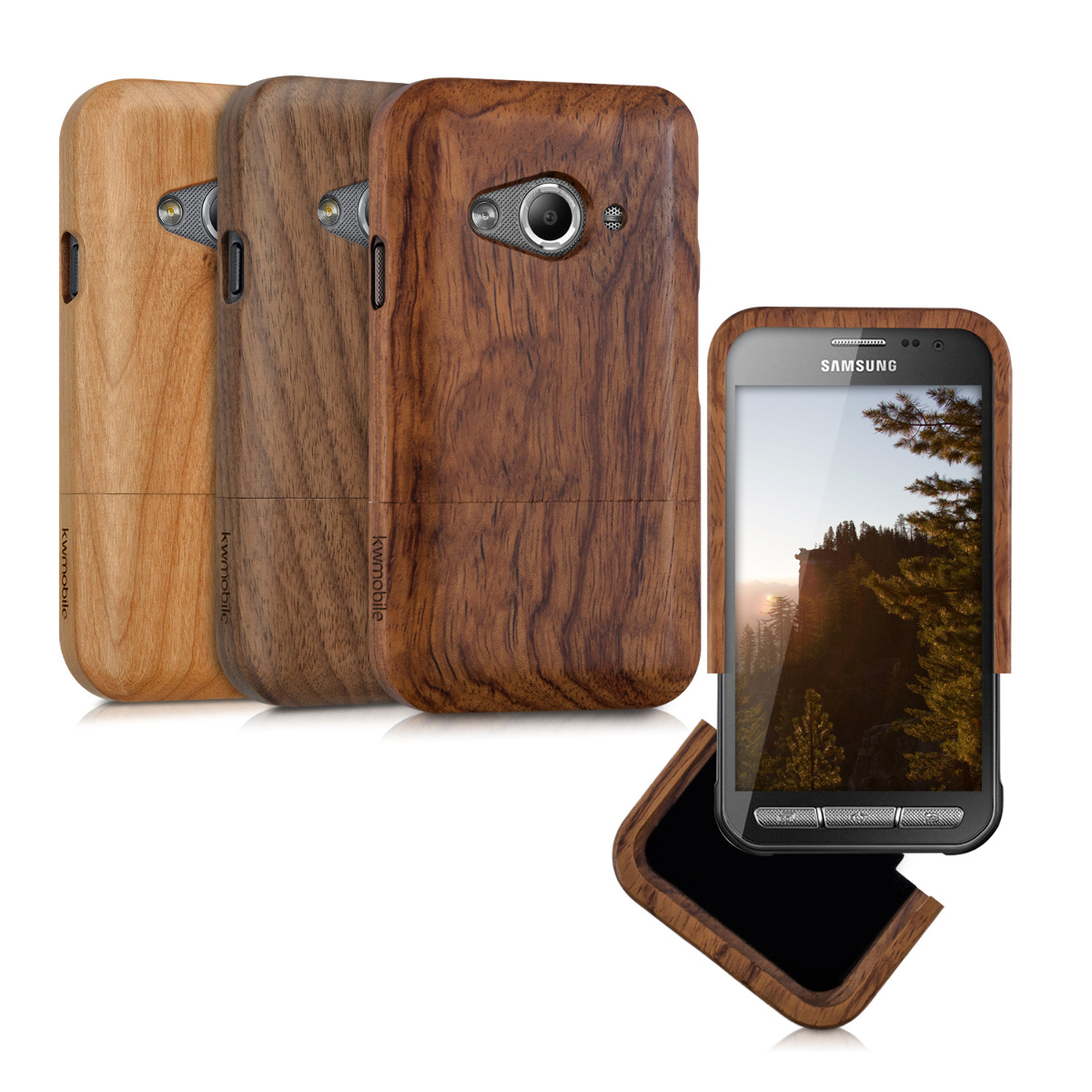 Kwmobile coque en bois pour samsung galaxy xcover 3 for Housse xcover 4
