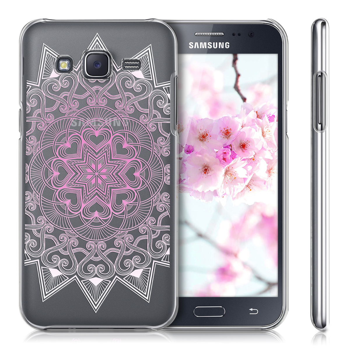 kwmobile crystal case for samsung galaxy j5 2015 clear cover hard case. Black Bedroom Furniture Sets. Home Design Ideas