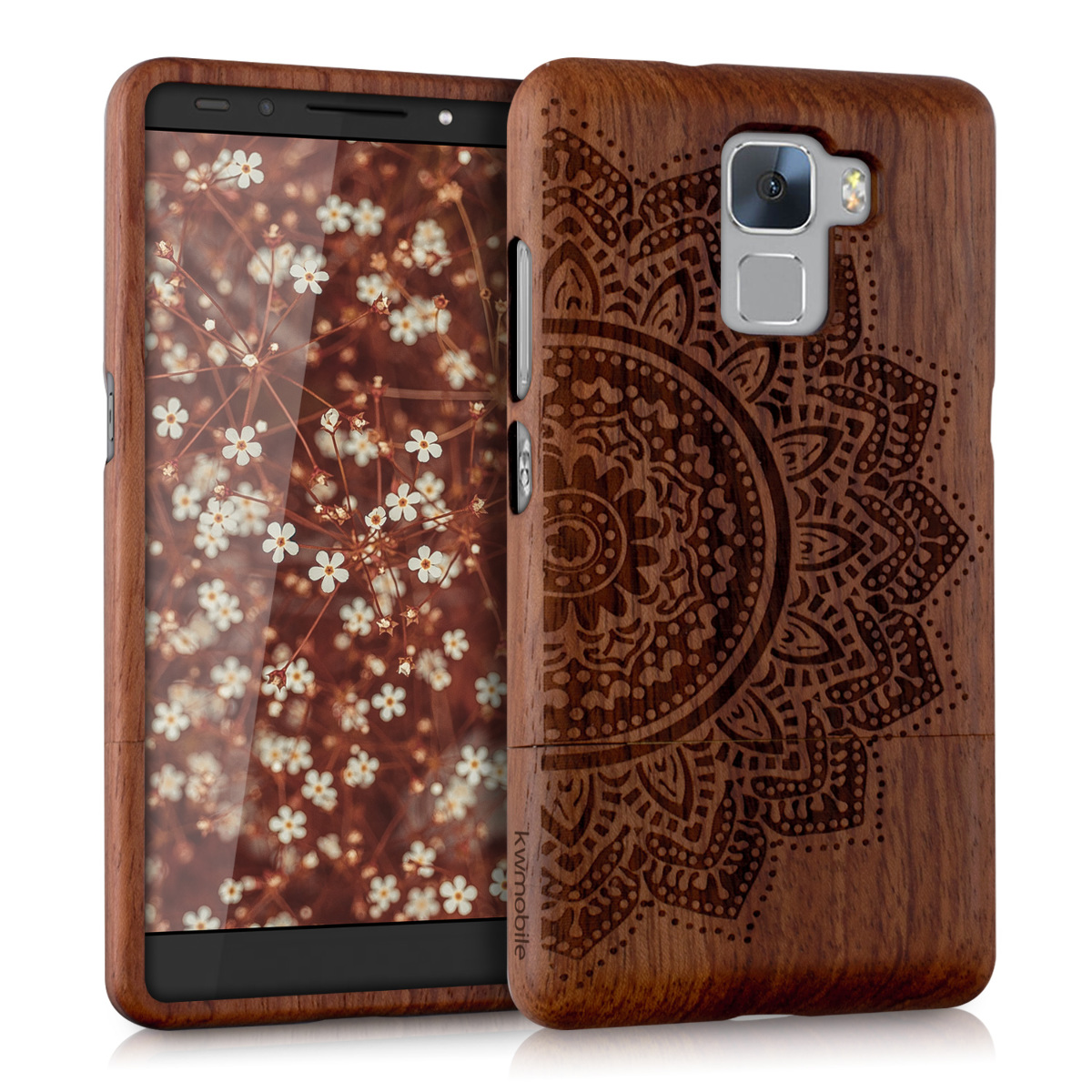 kwmobile WOOD COVER FOR HUAWEI HONOR 7 DESIGN CASE BACK HARD NATURAL MOBILE