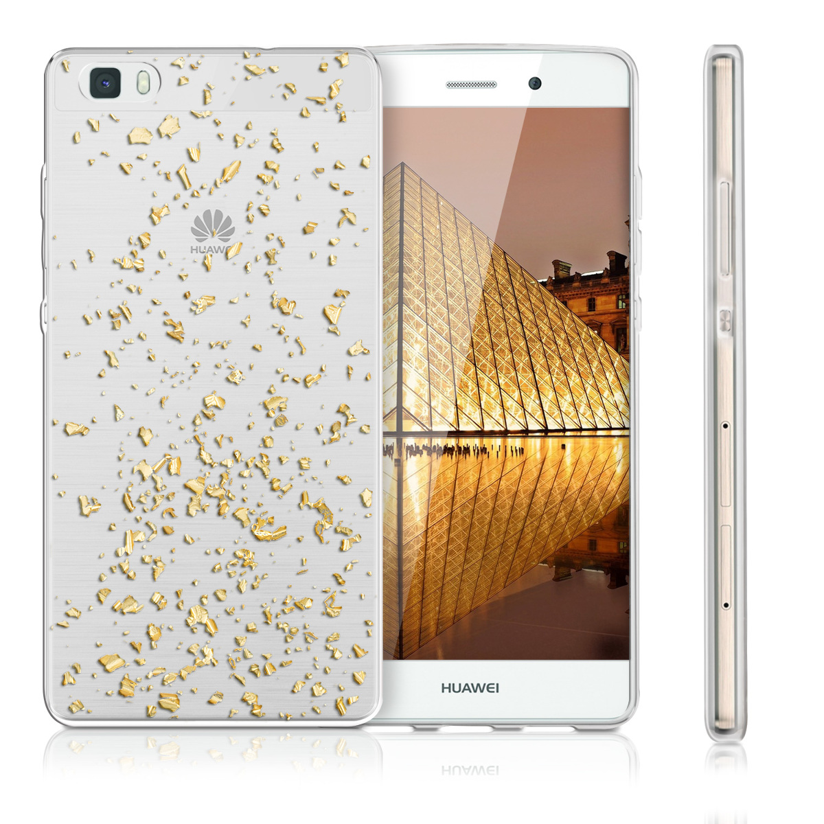 kwmobile  CRYSTAL CASE FOR HUAWEI P8 LITE CLEAR COVER HARD CASE TRANSPARENT