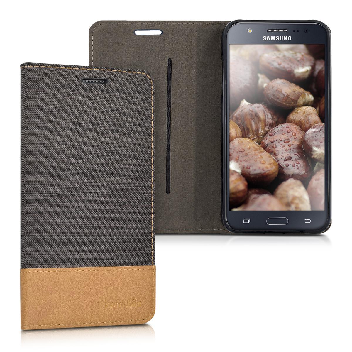 Fabricpouzdro pro Samsung J5 (2015) - Antracit / Brown