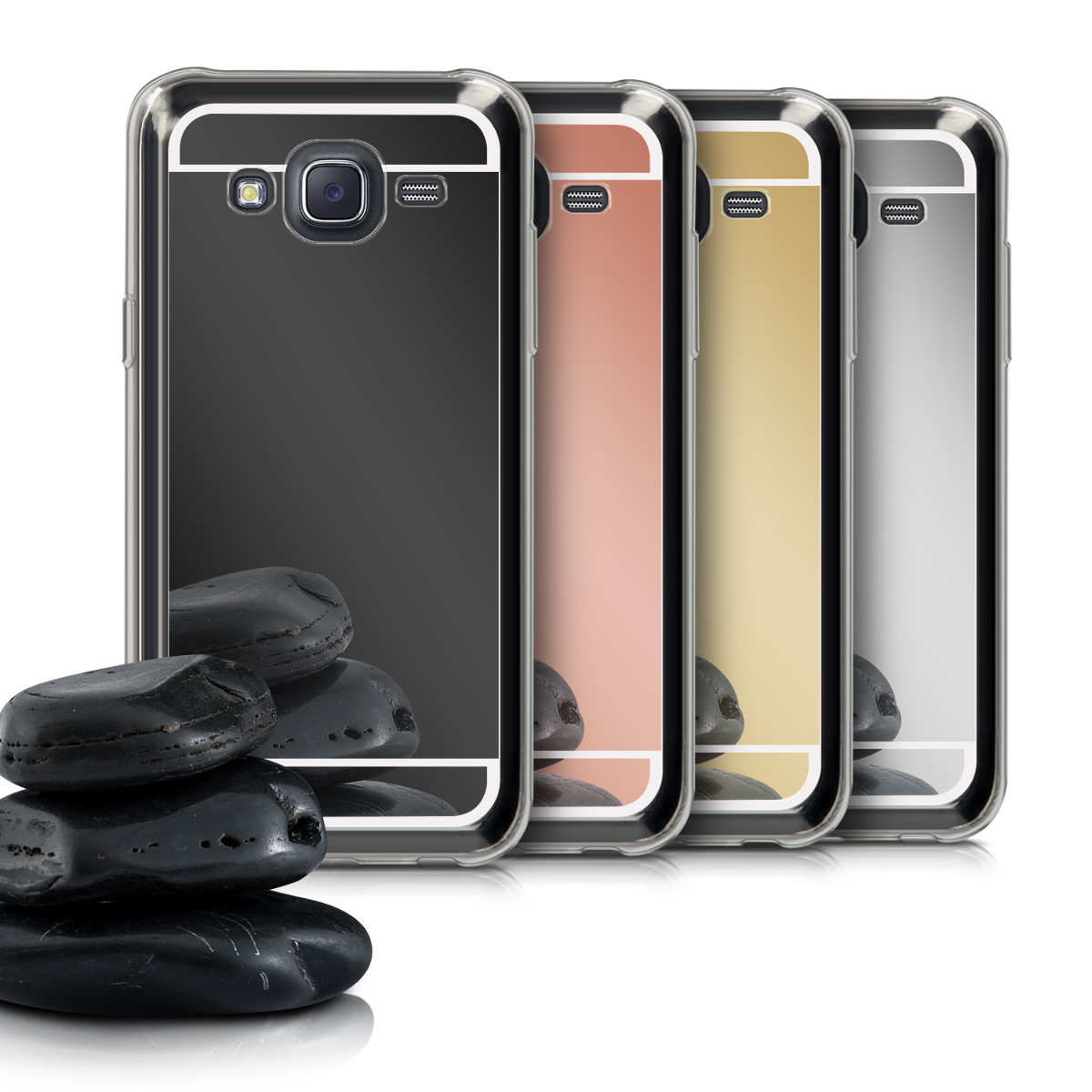 kwmobile Mirror Case for Samsung Galaxy J5 (2015) - TPU Silicone Bumper Protective Cover Reflective Back Case - Desired Color. ‹ › ‹ › ‹ › ‹ ›
