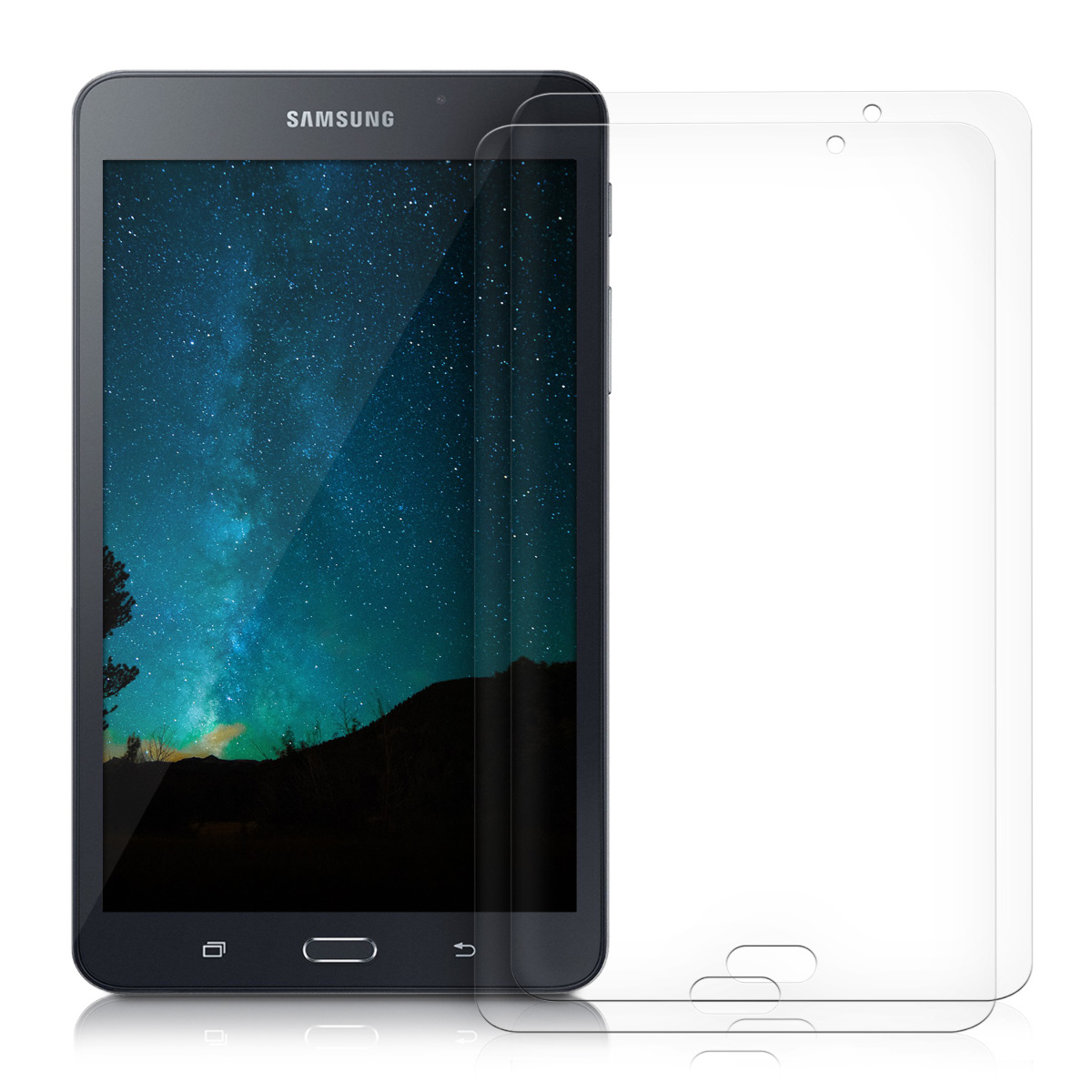 kwmobile screen protector for samsung galaxy tab a 7 0 display film tablet ebay. Black Bedroom Furniture Sets. Home Design Ideas