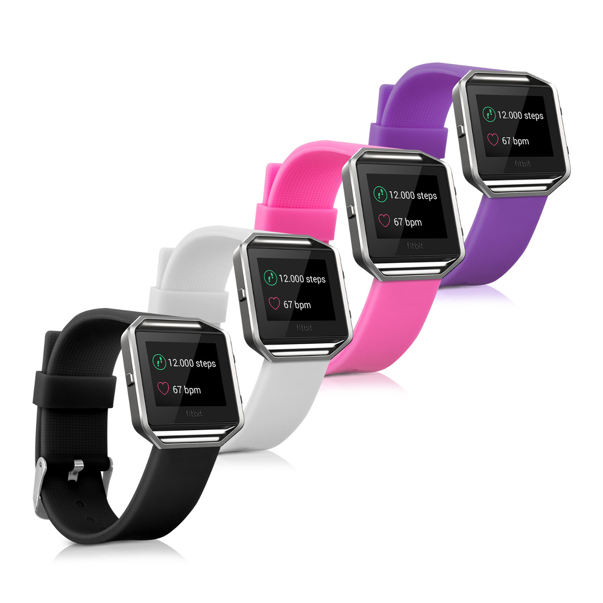 Kwmobile 2x silicone spare bracelet for fitbit blaze fitness clock clasp ebay - Spare time gadgets ...