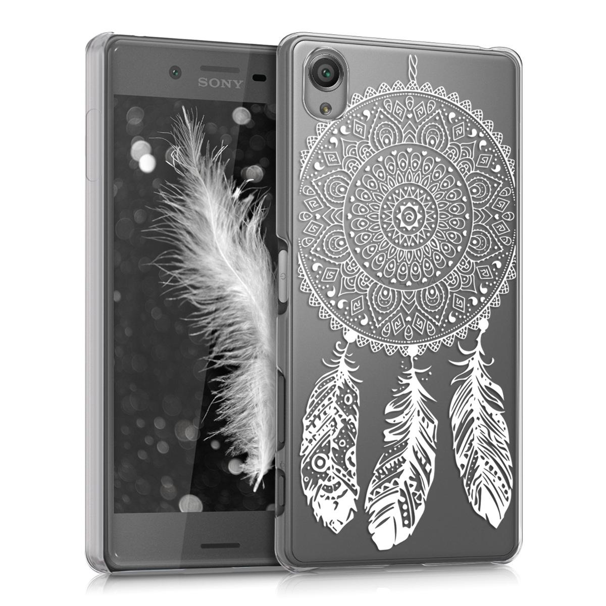 Kvalitní plastové pouzdro | obal pro Sony Xperia X - Dreamcatcher bílé / průhledné