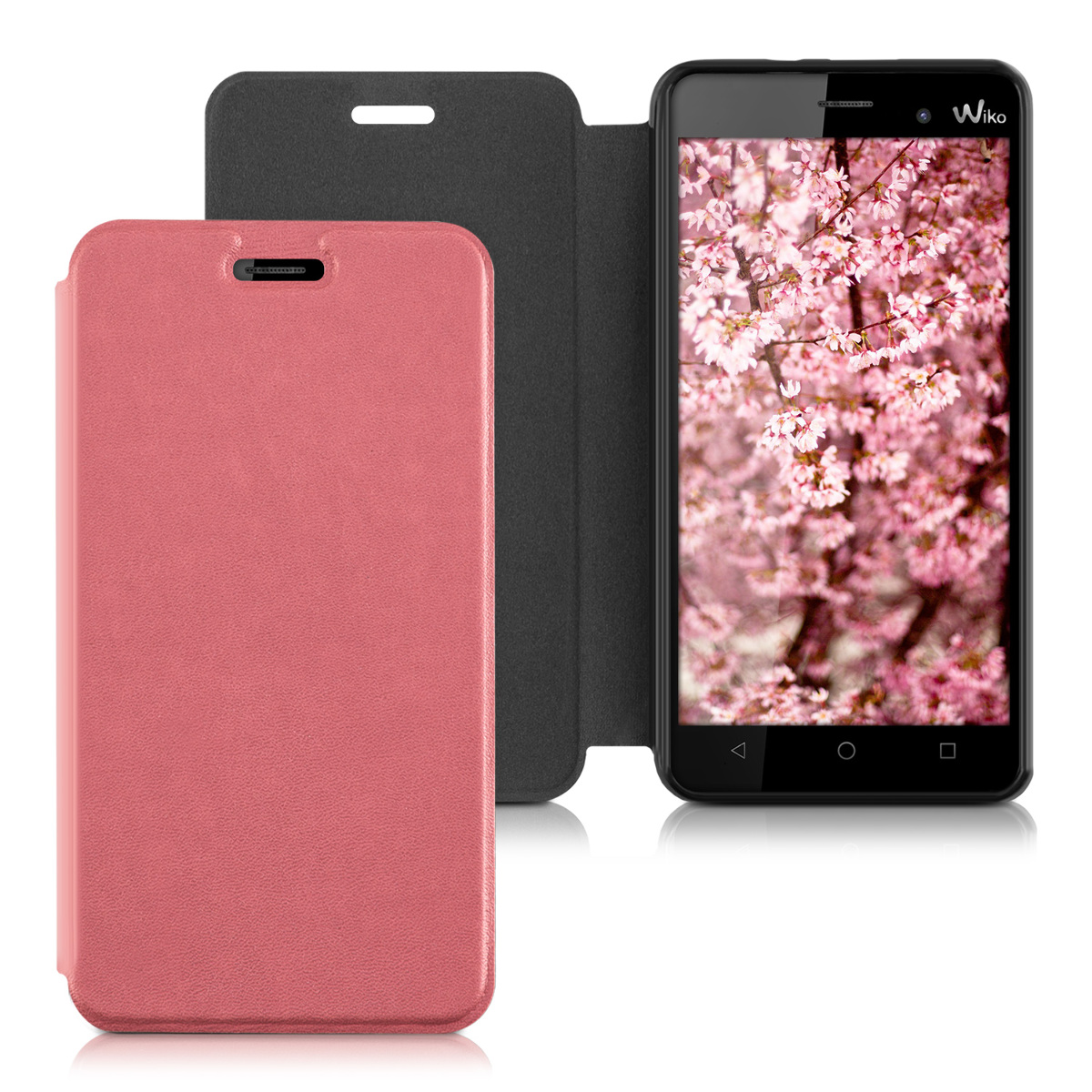 custodia flip per wiko lenny 3 rosa antico protettiva case cover astuccio ebay. Black Bedroom Furniture Sets. Home Design Ideas