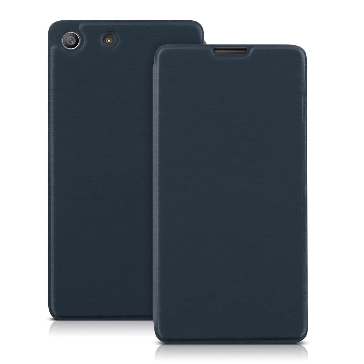 Kvalitní plastové pouzdro   obal pro Sony Xperia M5 - tmavě modré