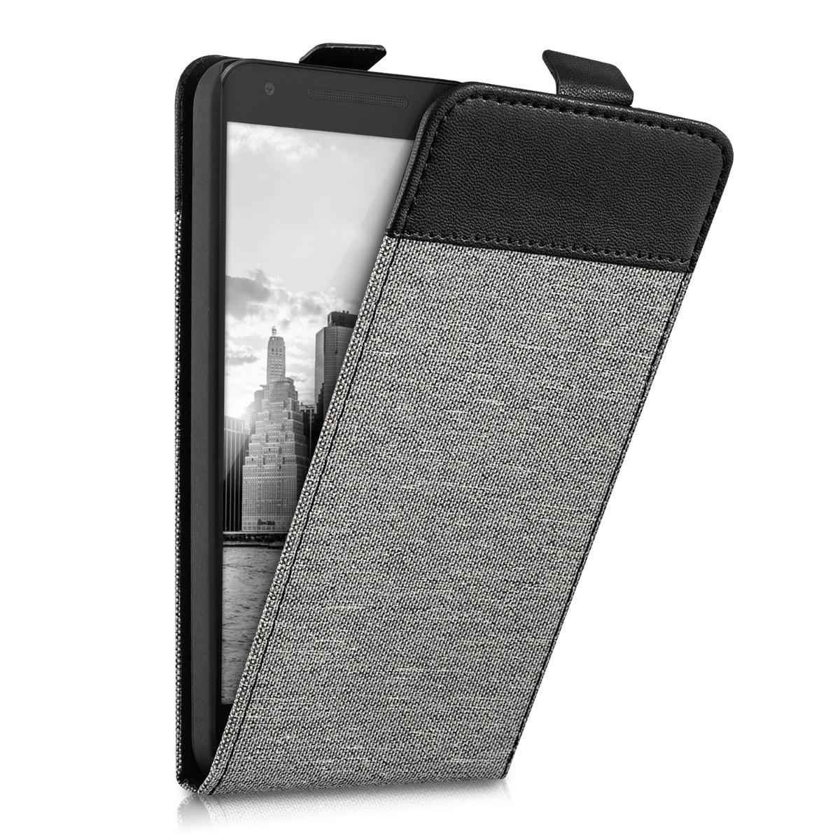 kwmobile-FLIP-CASE-HOUSSE-POUR-LG-GOOGLE-NEXUS-5X-TOILE-CANVAS-COVER-SMARTPHONE