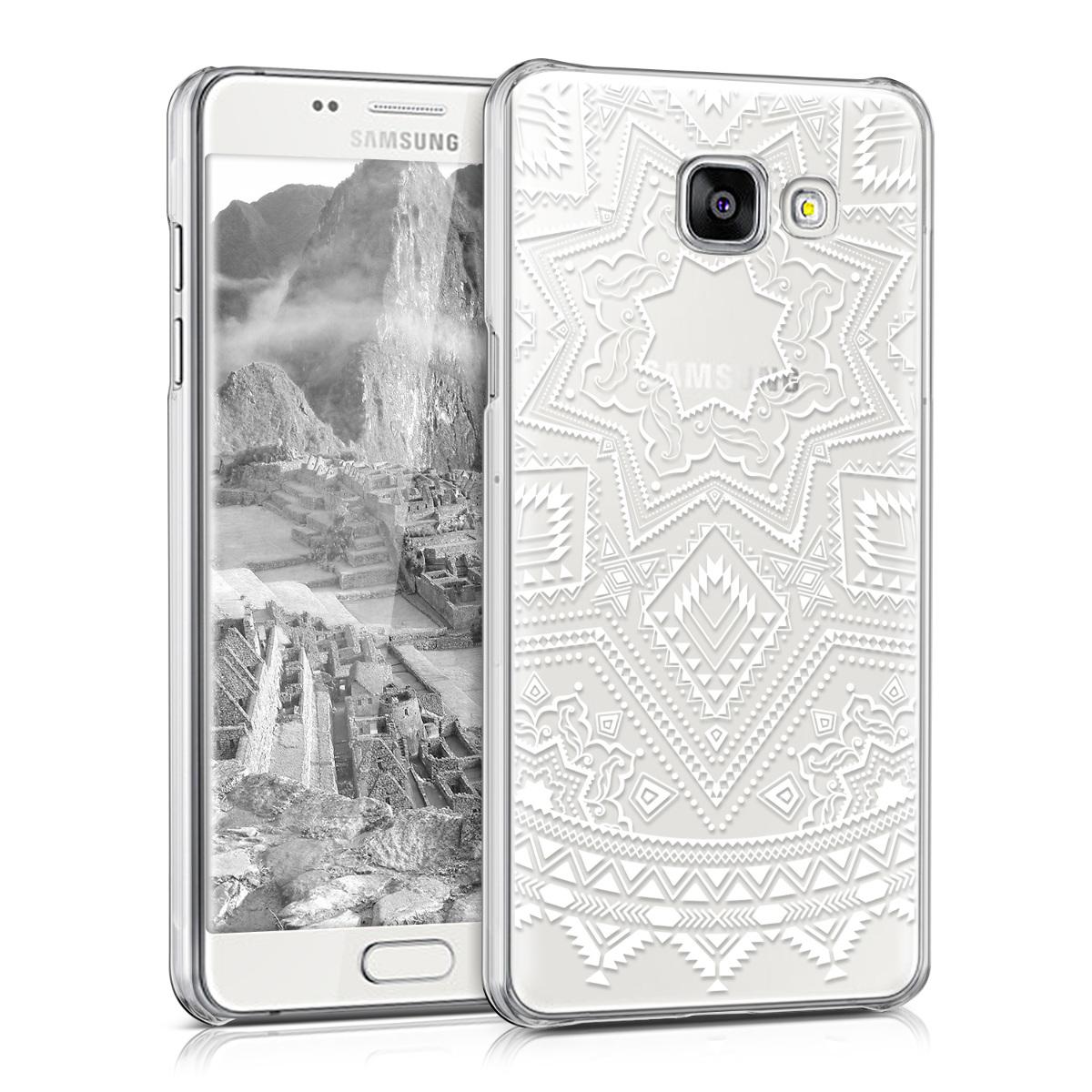 Kvalitní plastové pouzdro pro Samsung A5 (2016) - Aztec Sun bílé / transparentní