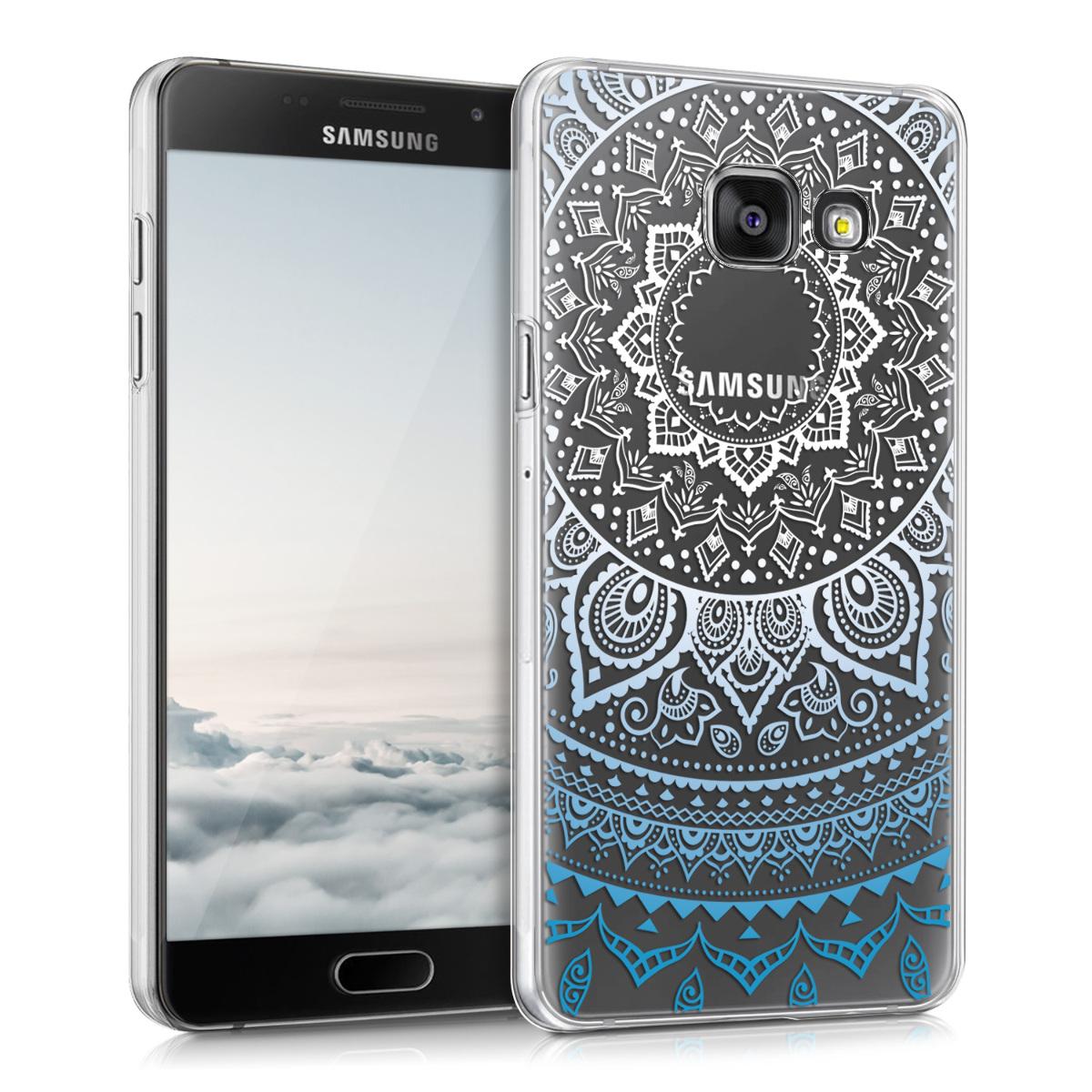 Kvalitní plastové pouzdro pro Samsung A5 (2016) - indické slunce modré / Bílá / Průhledná