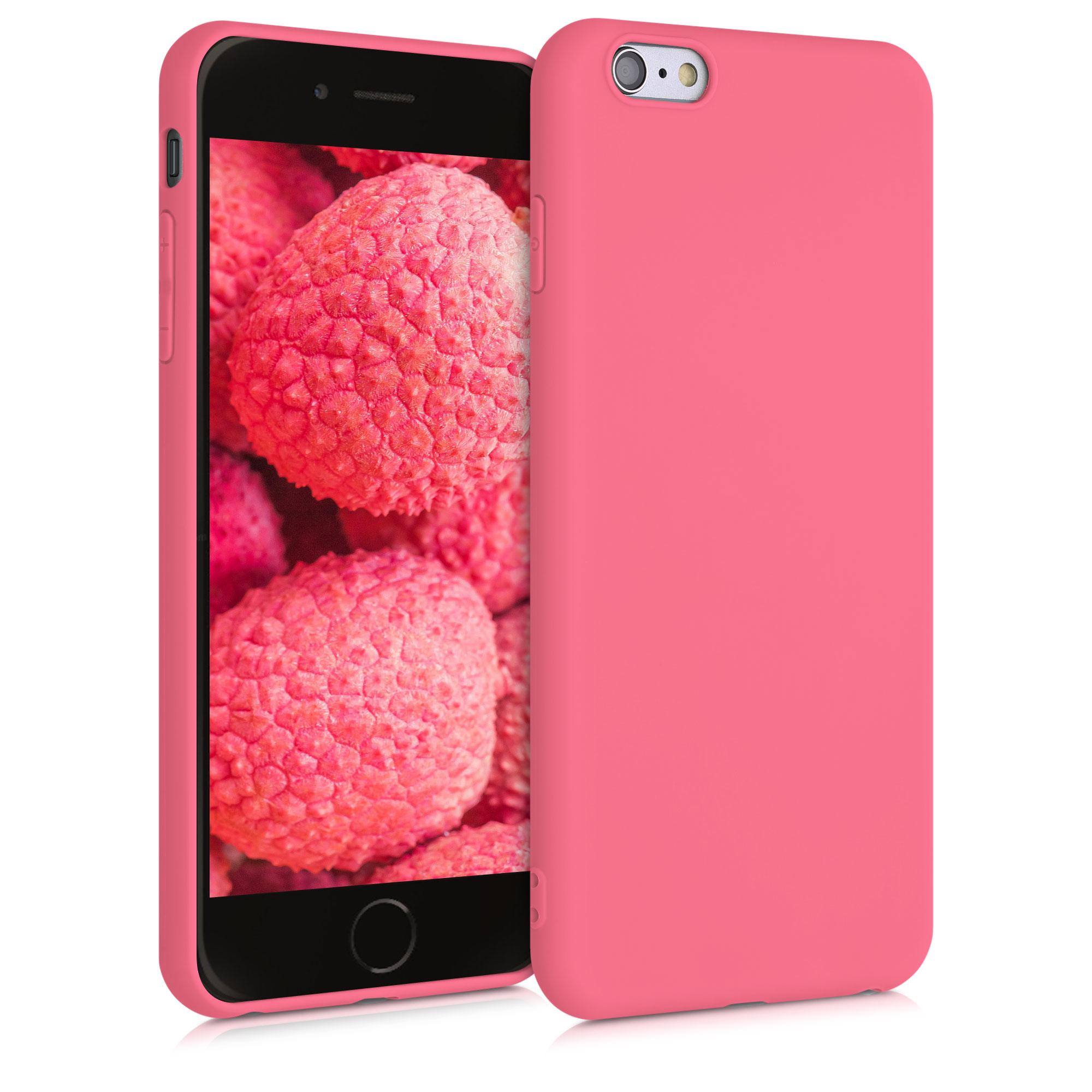 Kvalitní silikonové TPU pouzdro pro Apple iPhone 6 Plus / 6S - Neon Coral Matte