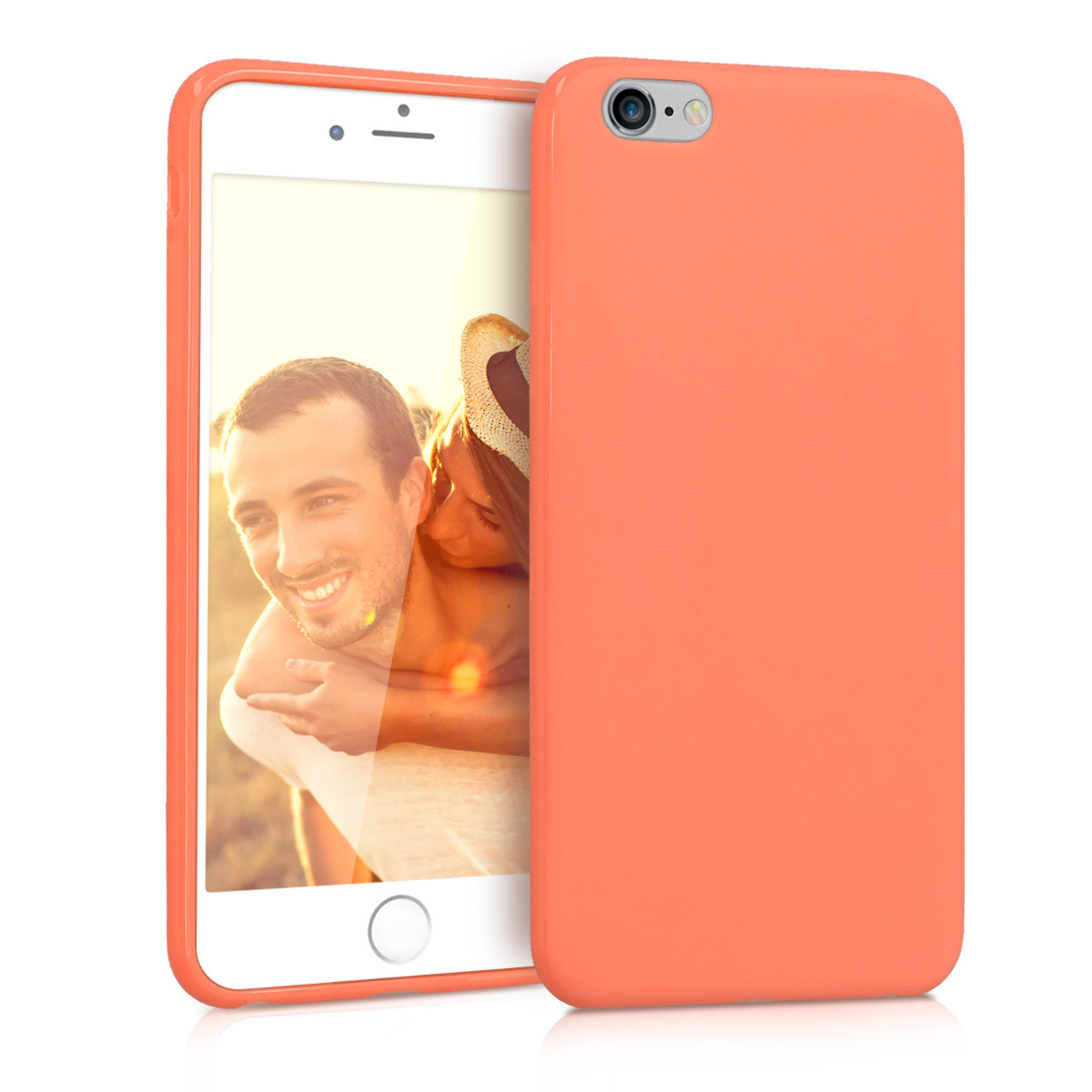 Kvalitní silikonové TPU pouzdro pro Apple iPhone 6 Plus / 6S - Coral Matte