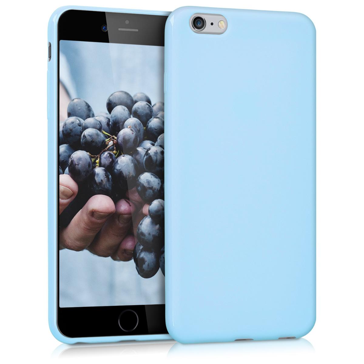 Kvalitní silikonové TPU pouzdro pro Apple iPhone 6 Plus / 6S - Light Blue Matte